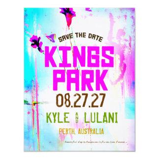 KINGS PARK Save the Date Destination 11 Cm X 14 Cm Invitation Card