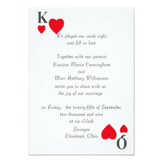"Kings & Queens Wedding Invitation 5"" X 7"" Invitation Card"
