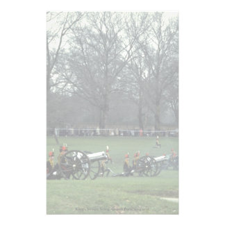 King's troops firing, Green Park, England Personalized Stationery
