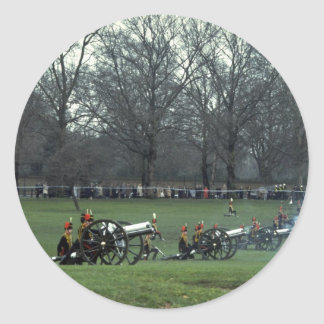 King's troops firing, Green Park, England Stickers