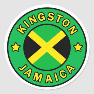 Kingston Jamaica Round Sticker