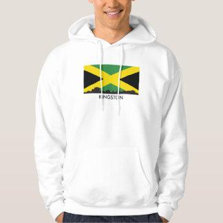 Kingston Jamaica Skyline Jamaican Flag Hoodie