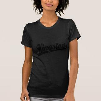 Kingston script logo in Black Tee Shirts
