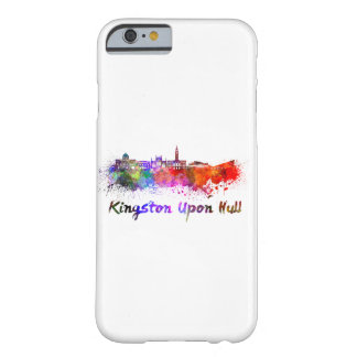 Kingston Upon Hull skyline in watercolor Barely There iPhone 6 Case