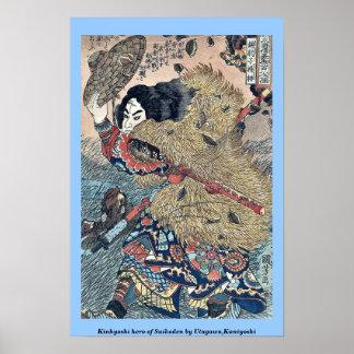 Kinhyoshi hero of Suikoden by Utagawa,Kuniyoshi Poster