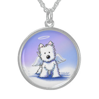 KiniArt Angel Westie Sterling Silver Necklace