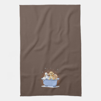 KiniArt Bath Doods Tea Towel