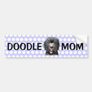 KiniArt Black Doodle Car Bumper Sticker