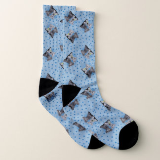 KiniArt Chambray Cesky Terriers Socks 1