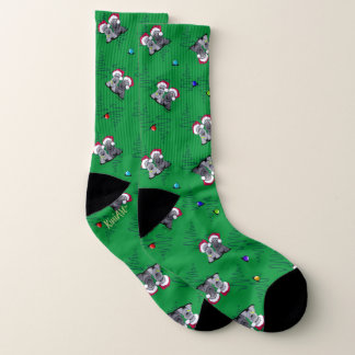 KiniArt Christmas Cesky Terriers Socks 1