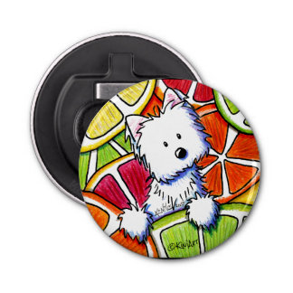 KiniArt Citrus Westie Bottle Opener
