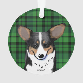 KiniArt Corgi Plaid Ornament