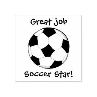 KiniArt Custom Soccer Ball Rubber Stamp
