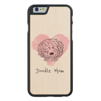 KiniArt Doodle Heart Carved Maple iPhone 6 Case