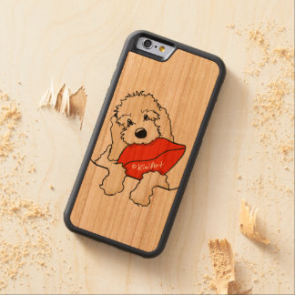 KiniArt Doodle Kiss Carved Cherry iPhone 6 Bumper Case