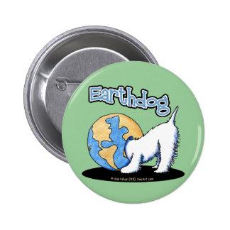KiniArt Earthdog Westie Pinback Button