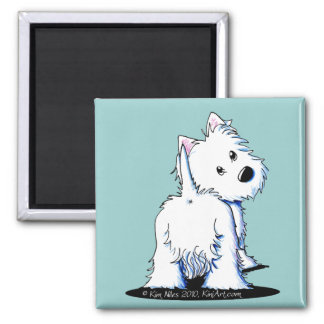 KiniArt Fluffy Butt Westie Magnet