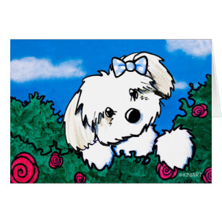 KiniArt Havanese Garden Helper Card