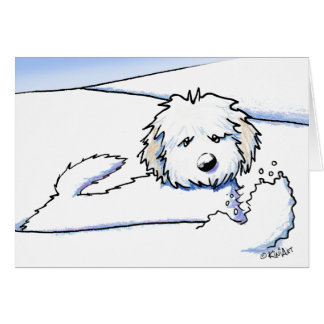 KiniArt Havanese Snow Plow Card