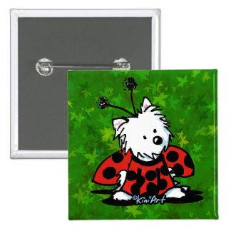 KiniArt Ladybug Westie 15 Cm Square Badge