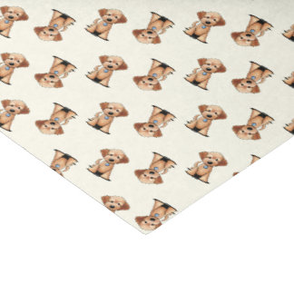 KiniArt Mini Goldendoodle Tissue Paper
