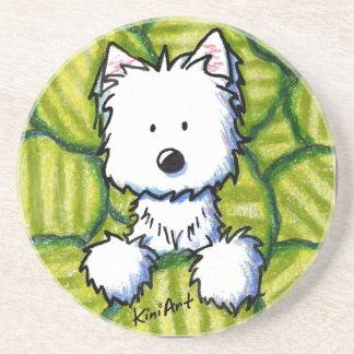 KiniArt Pickles Westie Dog Coaster