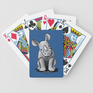KiniArt Rhino Bicycle Playing Cards