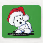 KiniArt Santa Baby Westie Dog Gifts Mousepads