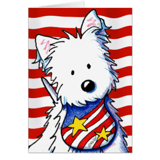 KiniArt Star Spangled Westie Card