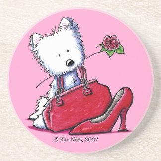 KiniArt Westie Bits O' Heaven Coaster