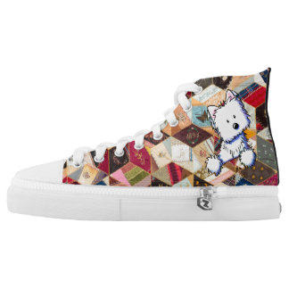 KiniArt Westie Crazy Quilt Printed Shoes