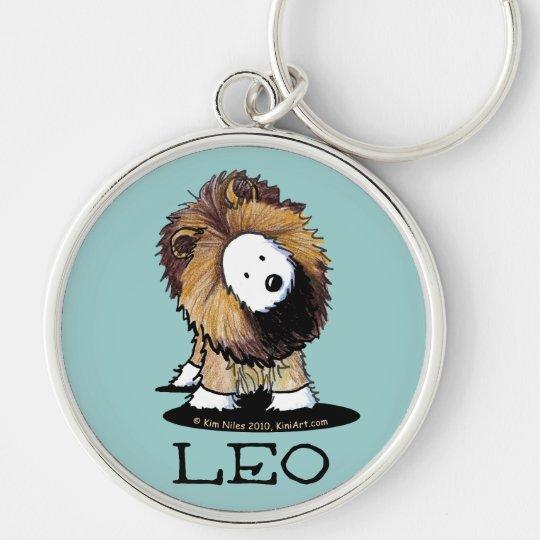 KiniArt Westie Dog LEO Lion Keychain