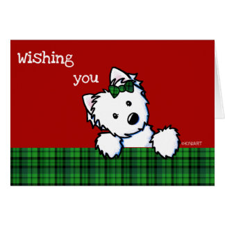 KiniArt Westie Girl Christmas Card