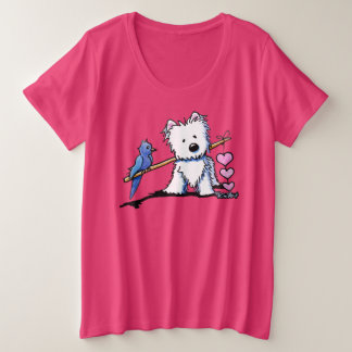 KiniArt Westie Heartstrings Plus Size T-Shirt