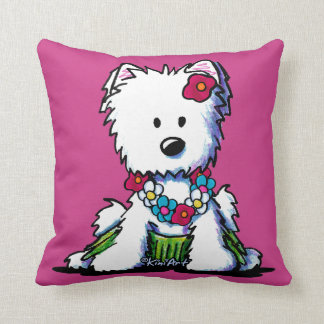 KiniArt Westie Hula Girl Cushion