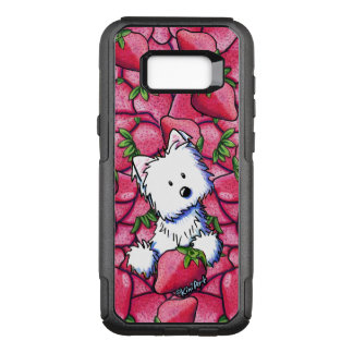KiniArt Westie in Strawberries OtterBox Commuter Samsung Galaxy S8+ Case