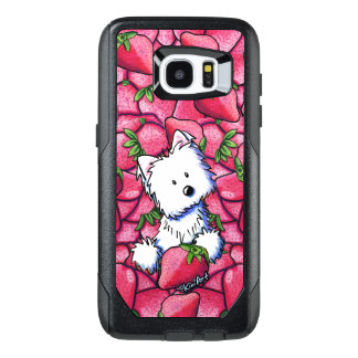KiniArt Westie in Strawberries OtterBox Samsung Galaxy S7 Edge Case