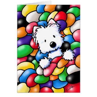 KiniArt Westie Jelly Bean Card