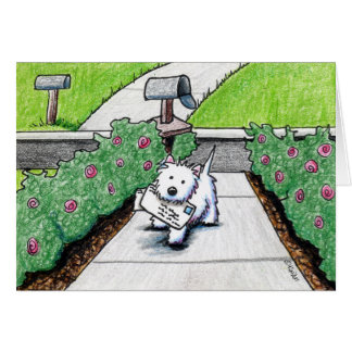 KiniArt Westie Mail Carrier Note Card