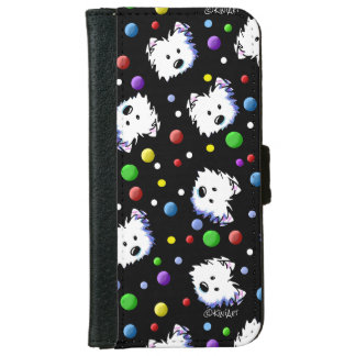 KiniArt Westie Polka Dot iPhone 6 Wallet Case