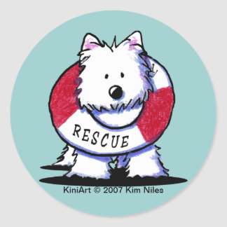 KiniArt WESTIE Rescue Stickers