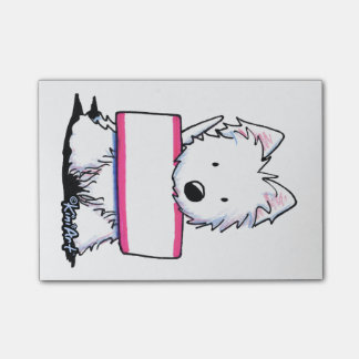 KiniArt Westie Sign Post-it® Notes