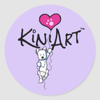 KiniArt Westie Stickers