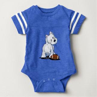 KiniArt Westie Tailgate Baby Bodysuit
