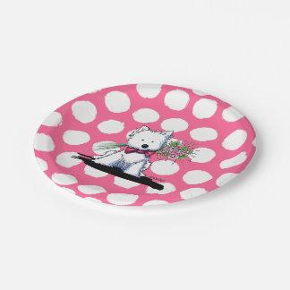 KiniArt Westie Terrier Valentine Party Plates