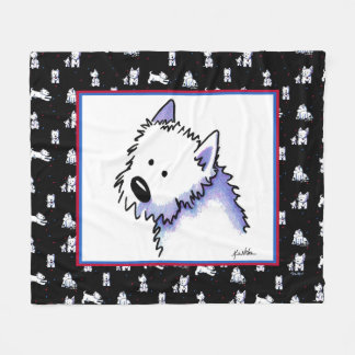 KiniArt Westie Terriers Fleece Blanket