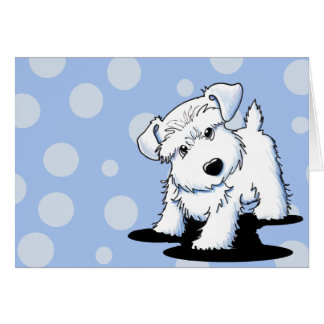 KiniArt White Schnauzer Greeting Cards