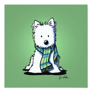KiniArt Winter Green Westie Card
