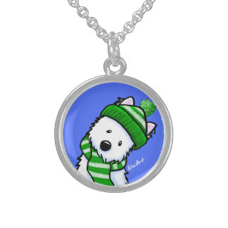 KiniArt Winter Westie Necklace