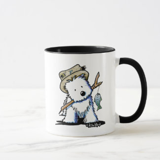 KiniArtFishing Westie Mug